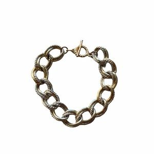 Chain Link Bracelet Gold Toggle Clasp